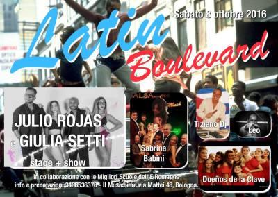 8 Ottobre- Latin Boulevard